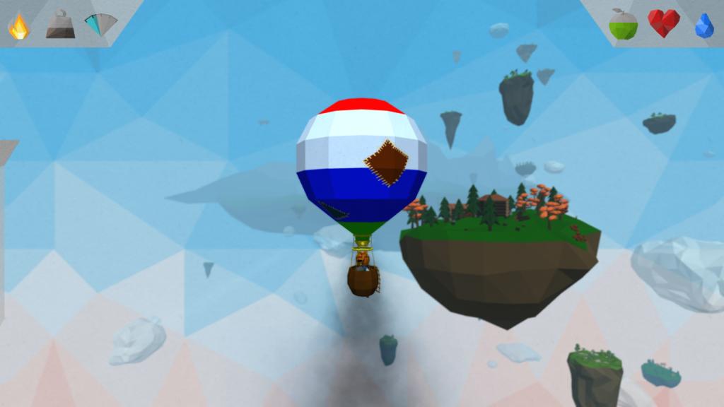 Flug mit beschädigtem Ballon in aloft